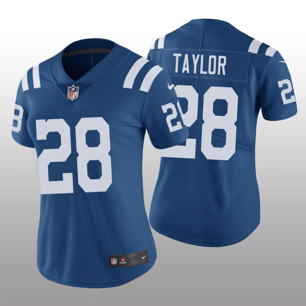 Women's Indianapolis Colts #28 Jonathan Taylor Royal Color Rush Limited Nike Jersey