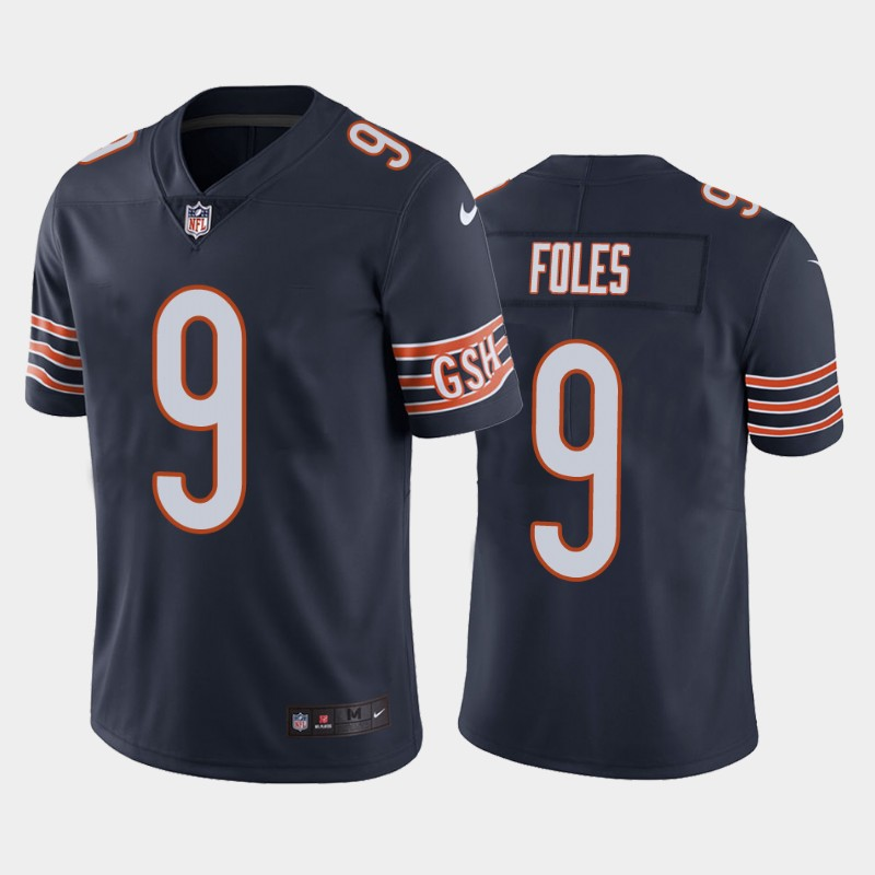 Men's Chicago Bears #9 Nick Foles Vapor Untouchable Limited Navy Nike Jersey