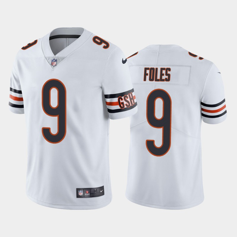 Men's Chicago Bears #9 Nick Foles Vapor Untouchable Limited White Nike Jersey