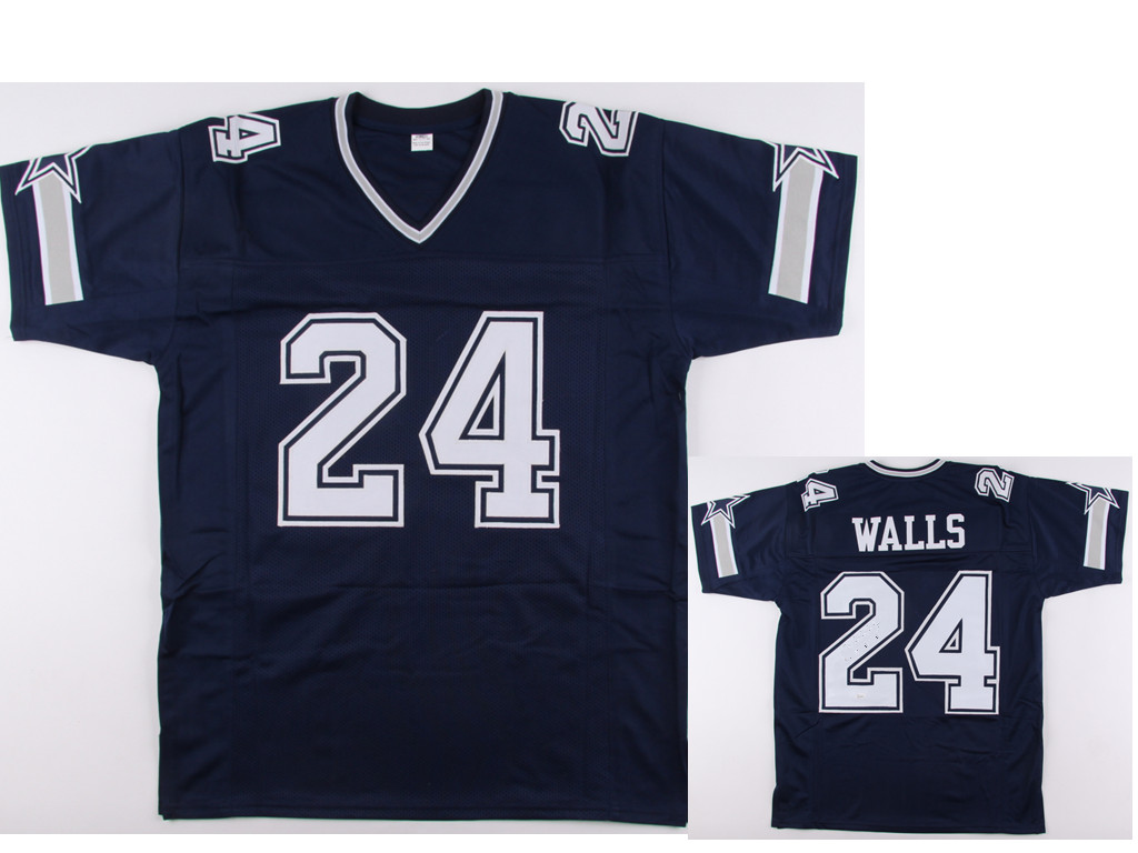 Men's Dallas Cowboys #24 Everson Walls Navy blue jersey