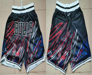 Men's Chicago Bulls Black Lightning Just Don Swingman Shorts