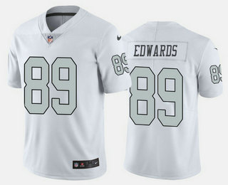 Men's Las Vegas Raiders #89 Bryan Edwards White 2020 Color Rush Stitched NFL Nike Limited Jersey