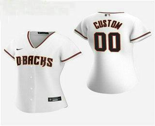 Women's Custom Arizona Diamondbacks 2020 White Home Nike Jersey