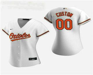 Women's Custom Baltimore Orioles 2020 White Home Nike Jersey