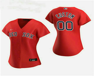 Women's Custom Boston Red Sox 2020 Red Alternate Nike Jersey