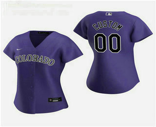 Women's Custom Colorado Rockies 2020 Purple Alternate Nike Jersey