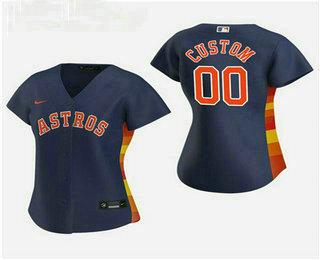 Women's Custom Houston Astros 2020 Navy Alternate Nike Jersey
