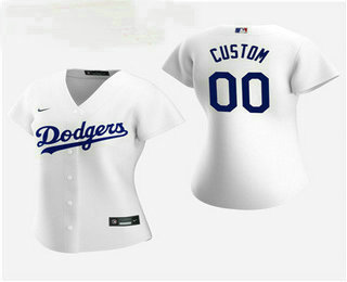 Women's Custom Los Angeles Dodgers 2020 White Home Nike Jersey