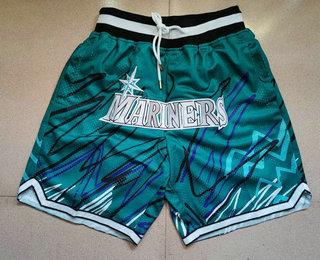 Men's Seattle Mariners Green Just Don Shorts Swingman Shorts