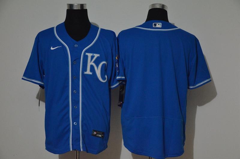 Men's Kansas City Royals Blank Light Blue Stitched MLB Cool Base Nike Jersey