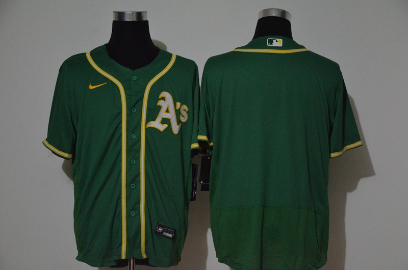Men's Oakland Athletics Blank Green Stitched MLB Cool Base Nike Jersey