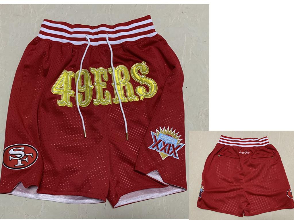 Men's San Francisco 49ers Red XXIX Super Bowl Patch Just Don Shorts