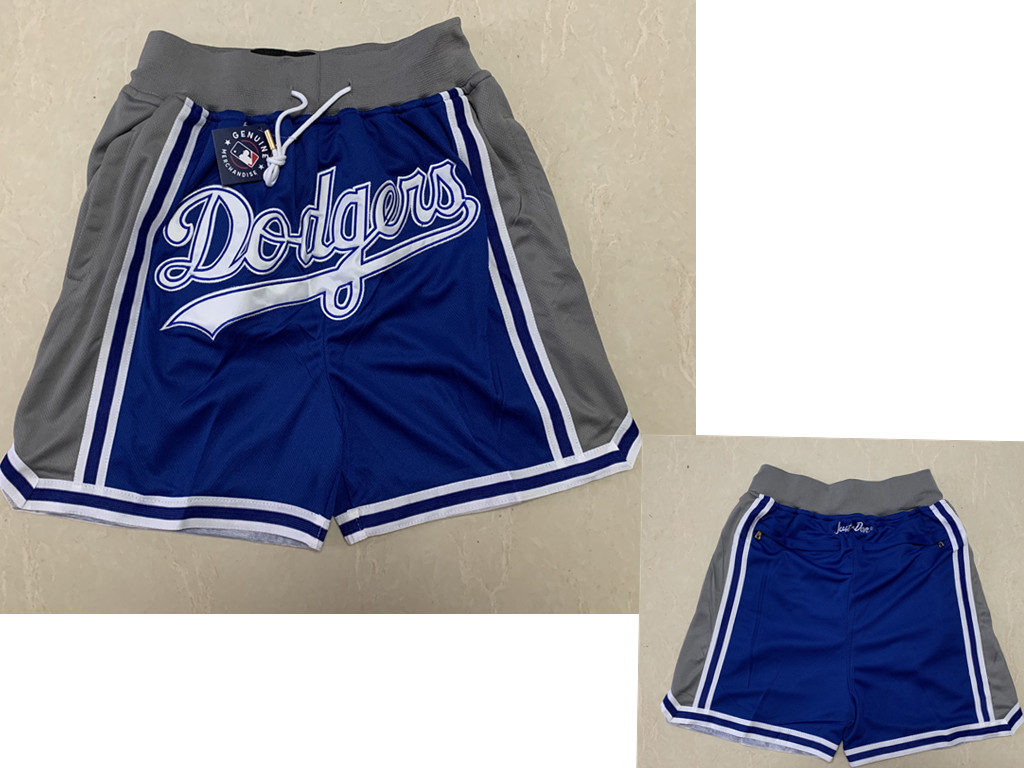 Men's Los Angeles Dodgers Blue With Grey Dodgers Just Don Shorts Swingman Shorts