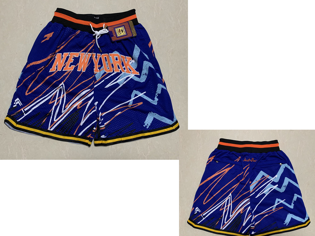 Men's New York Knicks Blue Lightning Just Don Swingman Shorts