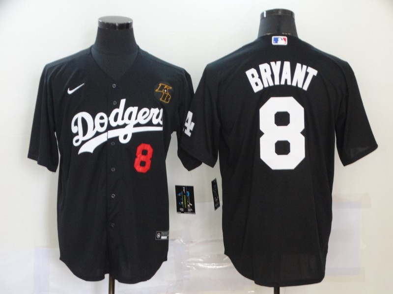 Men's Los Angeles Dodgers #8 Kobe Bryant Black 2020 Nike KB Cool Base Jersey