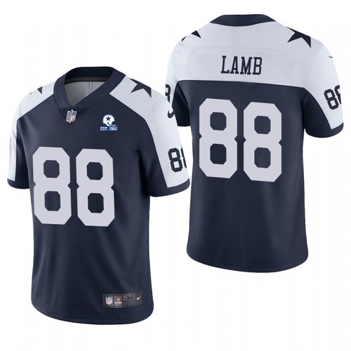Men' Dallas Cowboys #88 CeeDee Lamb Navy Alternate 60th Anniversary Vapor Untouchable Stitched NFL Nike Limited Jersey