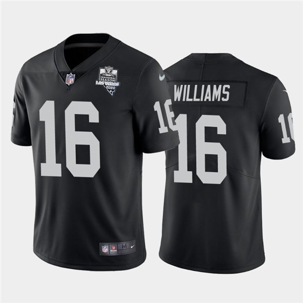Nike Las Vegas Raiders 16 Tyrell Williams Black 2020 Inaugural Season Vapor Untouchable Limited Jersey