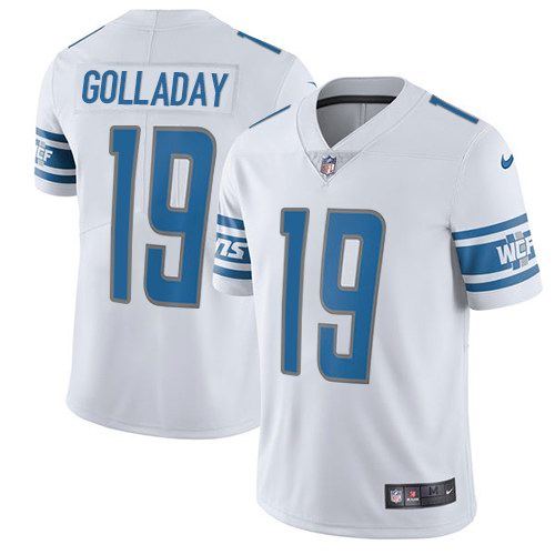 Youth Nike Detroit Nike Lions 19 Kenny Golladay White Vapor Untouchable Limited Jersey