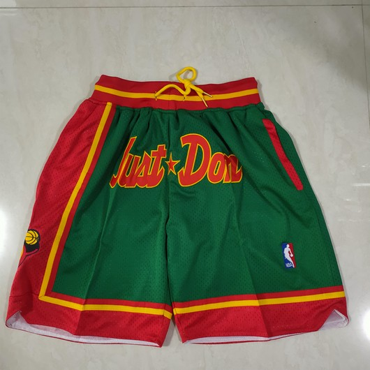 Men's Seattle Supersonics Green Just Don Swingman Throwback Shorts
