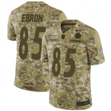 Men's Pittsburgh Steelers #85 Eric Ebron 2018 Salute to Service Jersey - Camo Limited