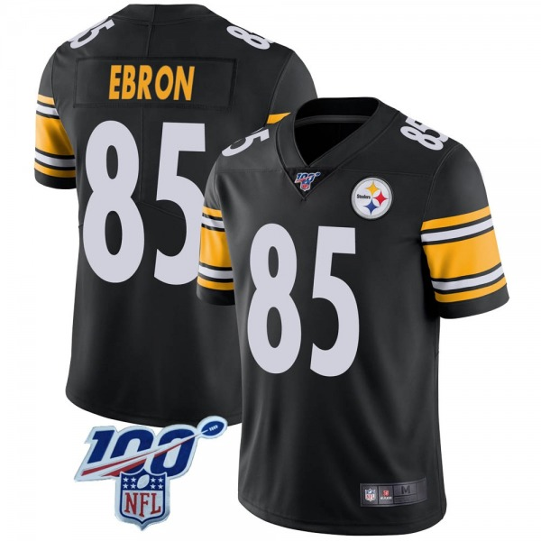 Men's Pittsburgh Steelers #85 Eric Ebron 100th Vapor Jersey - Black Limited