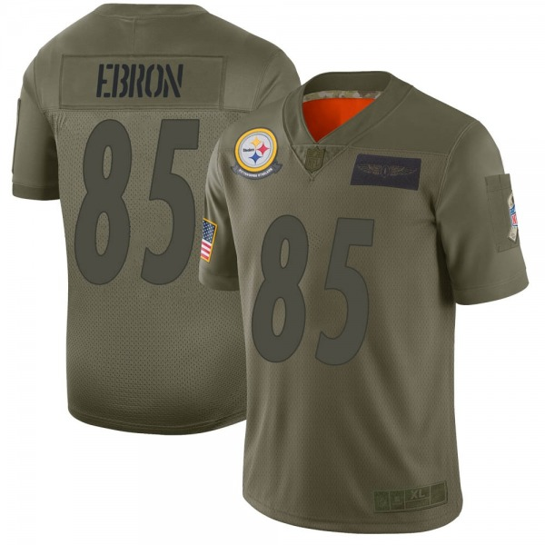 Men's Pittsburgh Steelers #85 Eric Ebron 2019 Salute to Service Jersey - Camo Limited