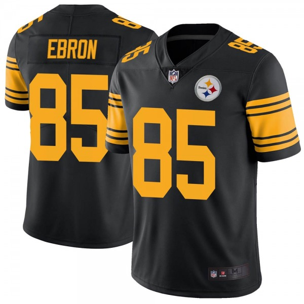 Men's Pittsburgh Steelers #85 Eric Ebron Color Rush Jersey - Black Limited