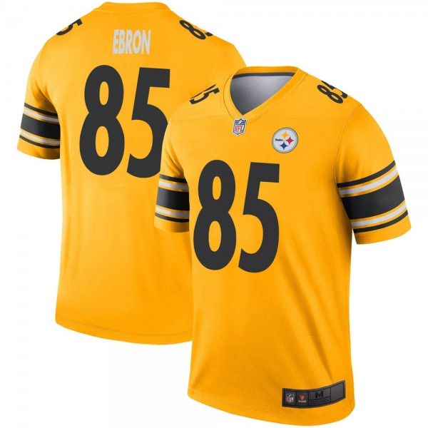 Men's Pittsburgh Steelers #85 Eric Ebron Inverted Jersey - Gold Legend