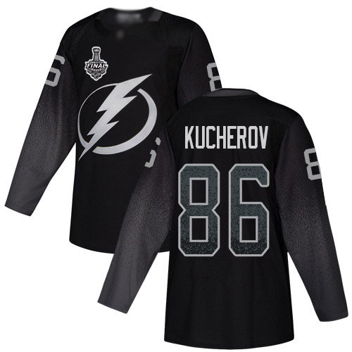 Adidas Lightning #86 Nikita Kucherov Black Alternate Authentic 2020 Stanley Cup Final Stitched NHL Jersey