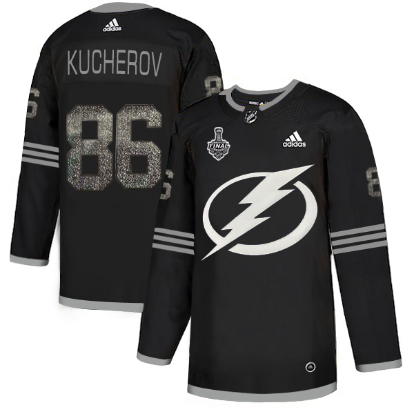 Adidas Lightning #86 Nikita Kucherov Black Authentic Classic 2020 Stanley Cup Final Stitched NHL Jersey