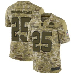 Men's Nike Kansas City Chiefs #25 Clyde Edwards-Helaire Limited Camo 2018 Salute to Service Jersey