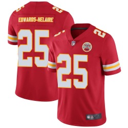 Youth Nike Kansas City Chiefs #25 Clyde Edwards-Helaire Limited Red Team Color Vapor Untouchable Jersey