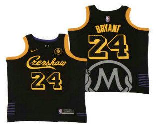 Men's Crenshaw #23 LeBron James Black Swingman Throwback Nike Jersey