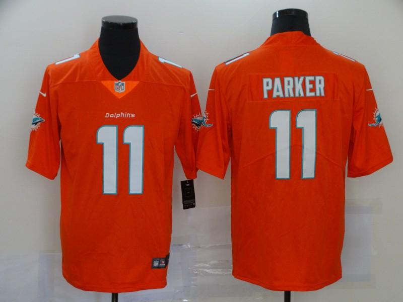 Men's Miami Dolphins #11 DeVante Parker Orange 2020 Vapor Untouchable Stitched NFL Nike Limited Jersey