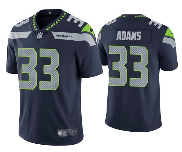 Men's Seattle Seahawks #33 Jamal Adams Navy Blue 2020 Vapor Untouchable Stitched NFL Nike Limited Jersey