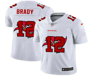 Men's Tampa Bay Buccaneers #12 Tom Brady White 2020 Shadow Logo Vapor Untouchable Stitched NFL Nike Limited Jersey