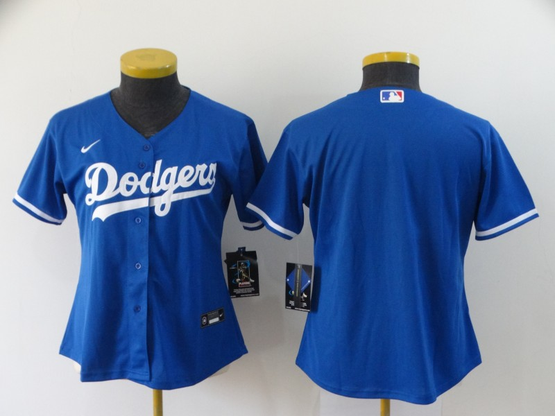 Women's Los Angeles Dodgers Blank Blue Stitched MLB Cool Base Nike Jersey