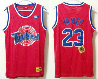 Men's The Movie Space Jam #23 LeBron James Red Soul Swingman Basketball Jersey