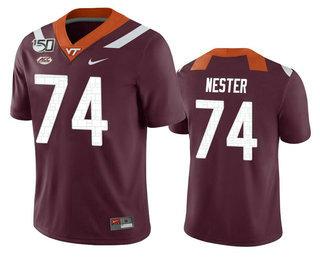 Men's Virginia Tech Hokies #74 Doug Nester Maroon 150th College Football Nike Jersey