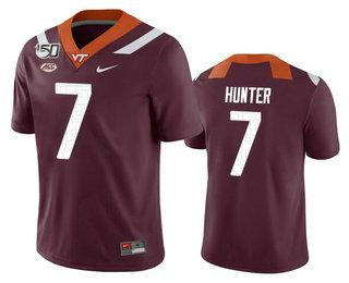 Men's Virginia Tech Hokies #7 Devon Hunter Maroon 150th College Football Nike Jersey