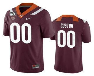 Men's Virginia Tech Hokies Custom Maroon 150th College Football Nike Jersey