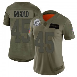 Women's Las Vegas Raiders #45 Alec Ingold Limited Camo 2019 Salute to Service Jersey