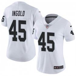 Women's Las Vegas Raiders #45 Alec Ingold Limited White Vapor Untouchable Jersey