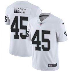 Youth Las Vegas Raiders #45 Alec Ingold Limited White Vapor Untouchable Jersey