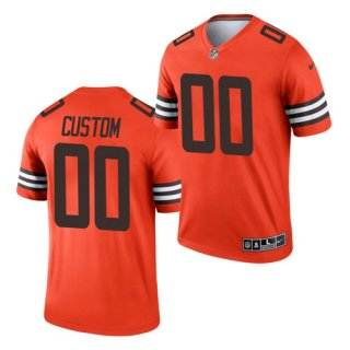 Men's Orange Cleveland Browns ACTIVE PLAYER Custom Inverted Legend Football Jersey