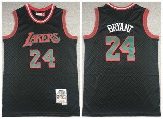 Men's Black Los Angeles Lakers #24 Kobe Bryant 2007-08 Mitchell & Ness Hardwood Classics Stitched Jersey