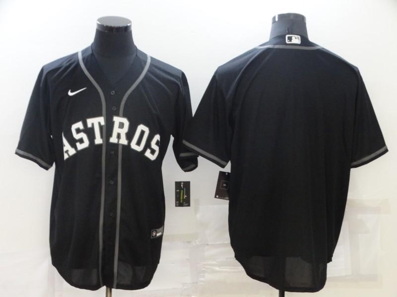 Men's Houston Astros Blank Black Stitched MLB Cool Base Nike Jersey