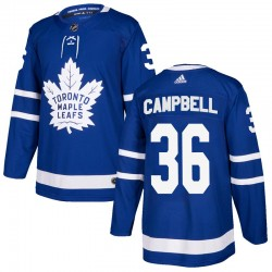Men's Toronto Maple Leafs #36 Jack Campbell Blue Authentitc Adidas Jersey