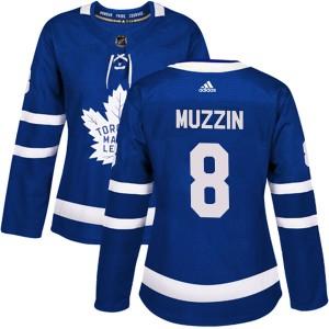 Women's Adidas Toronto Maple Leafs #8 Jake Muzzin Authentic Home Jersey - Blue