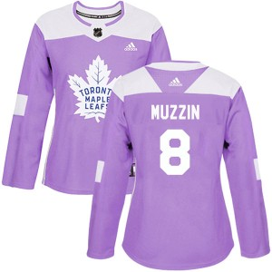 Women's Adidas Toronto Maple Leafs #8 Jake Muzzin Authentic Fights Cancer Practice Jersey - Purple